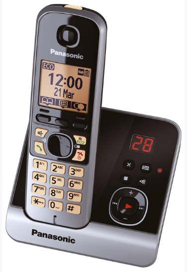 Telefon-KX-TG6721GB-schnurlos-titan-schwarz
